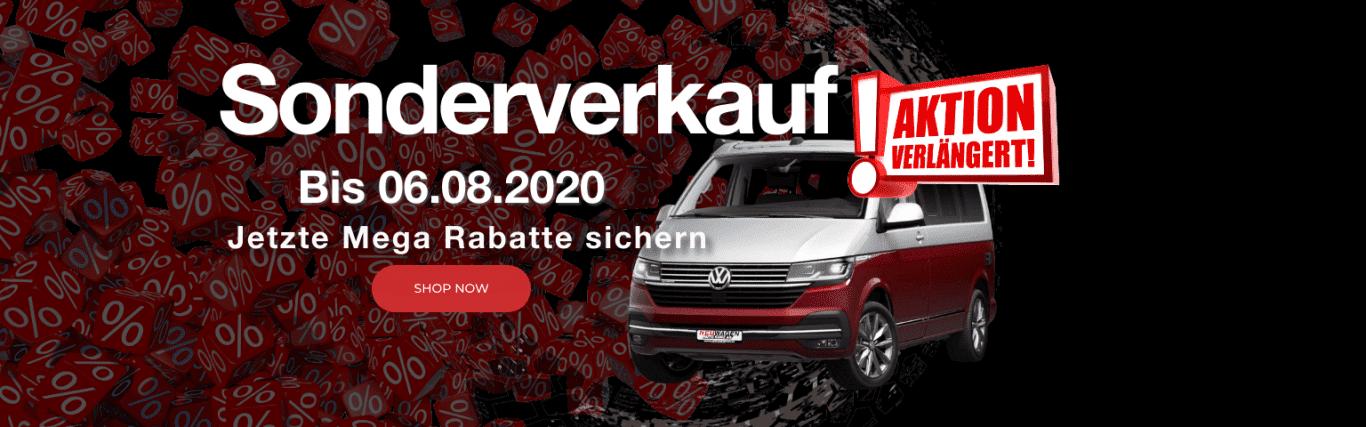 Sonderverkauf verlängert bis 06.08.2020 - Auto Kunz AG