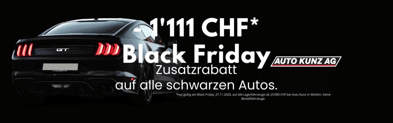 Black Friday nur am 27.11.2020 - Auto Kunz AG